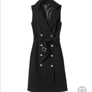 WHBM Denim trench coat dress